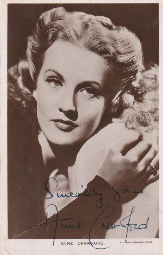 RPPC Anne Crawford Film Star (1920-1956) - Signed - Real Photo