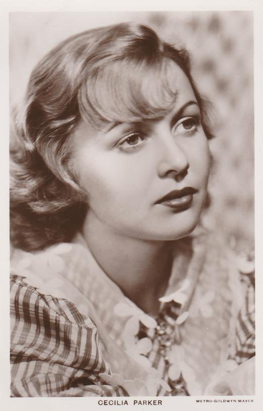 RPPC Cecilia Parker (1914-1993) Canadian Born American Film Actress - Real Photo