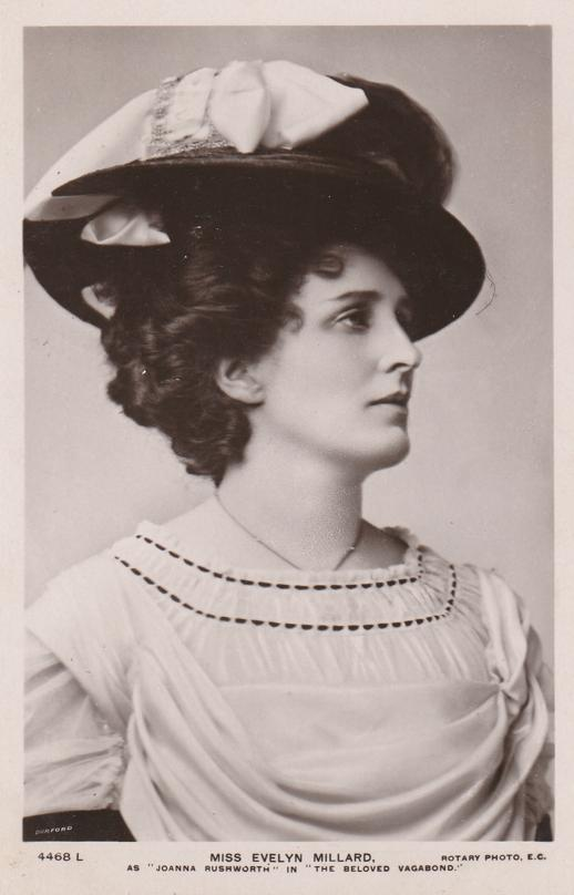 RPPC Miss Evelyn Millard - English Actress in