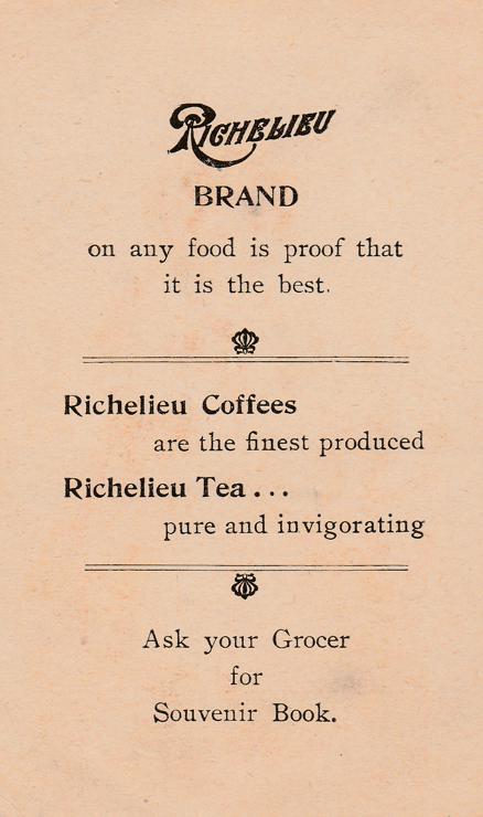 Trade - Advertisement - Richelieu Brand Coffee and Tea - Pretty Girl picking Flowers