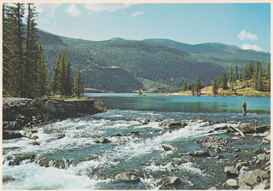 Lake San Cristoba in the Colorado Rockies near Lake City - pm 1981