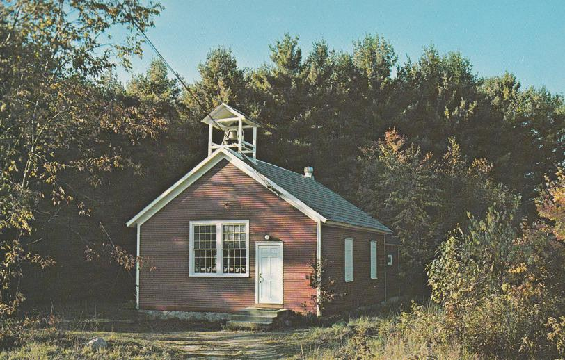 Typical Little Red School House in New England