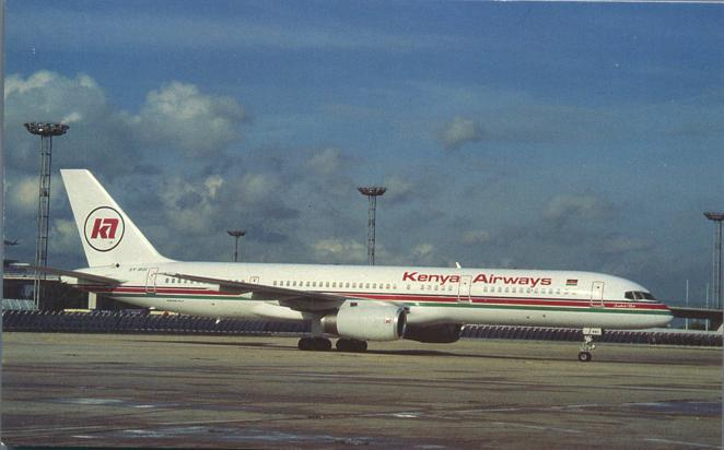 Kenya Airways Boeing B-757-23A - Orly Airport, Paris, France