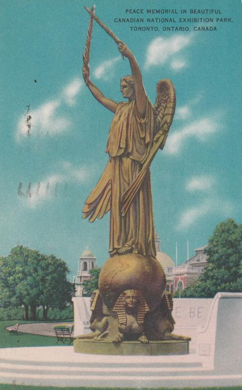 Peace Memorial in CNE Park - Toronto, Ontario, Canada - pm 1955