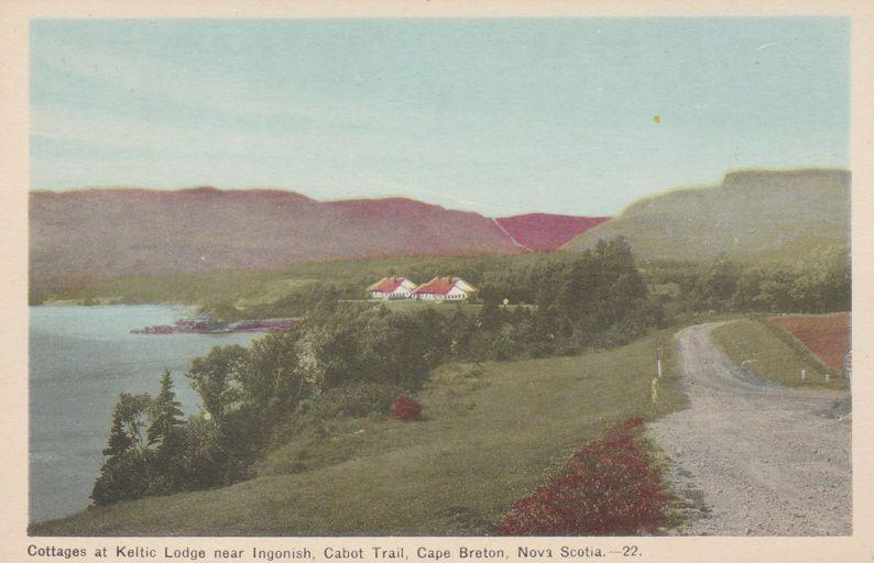 Cottages at Keltic Lodge - Cape Breton, Nova Scotia, Canada - White Border
