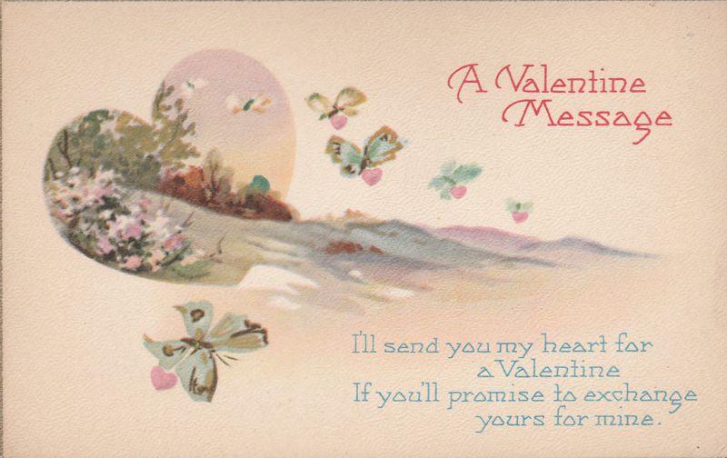 Valentine Message - Exchange Heart for a Valentine - Divided Back