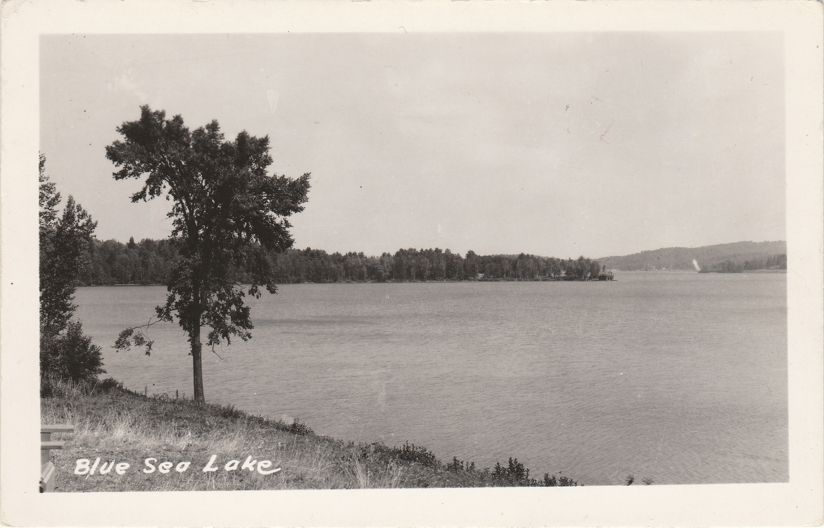 RPPC Blue Sea Lake near Messines, Quebec, Canada - Real Photo
