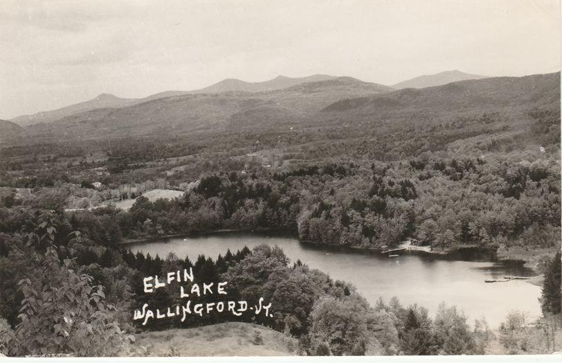 RPPC Elfin Lake at Wallingford, Rutland County, Vermont - Real Photo