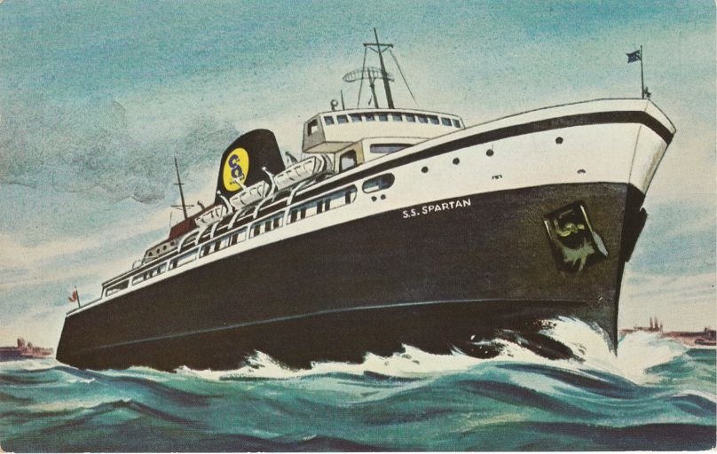 SS Spartan - Lake Michigan Cruise Ship - Ludington, Michigan to Milwaukee - pm 1973 at Wisconsin