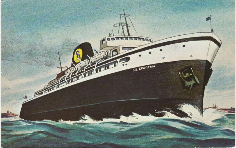 SS Spartan - Lake Michigan Cruise Ship - Milwaukee to Ludington, Michigan - pm 1973 at Wisconsin
