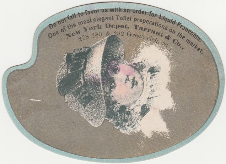 Palette Style Victorian Die-Cut Trade Card - Liquid Fanconia Tarrant & Co. of NYC