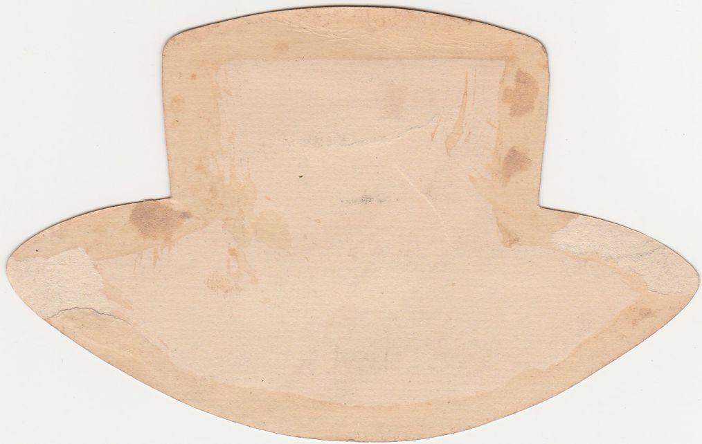 Victorian Die Cut Tea Cup Trade Card - Benjamin's Ice Cream Soda Elmira NY