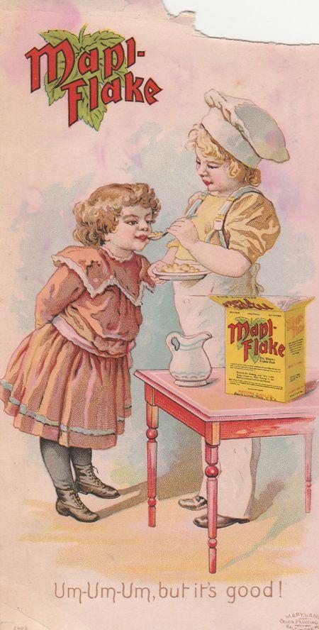 Victorian Trade Card - Mapl-Flake Breakfast Food - Hygienic Food Co, Battle Creek, MI