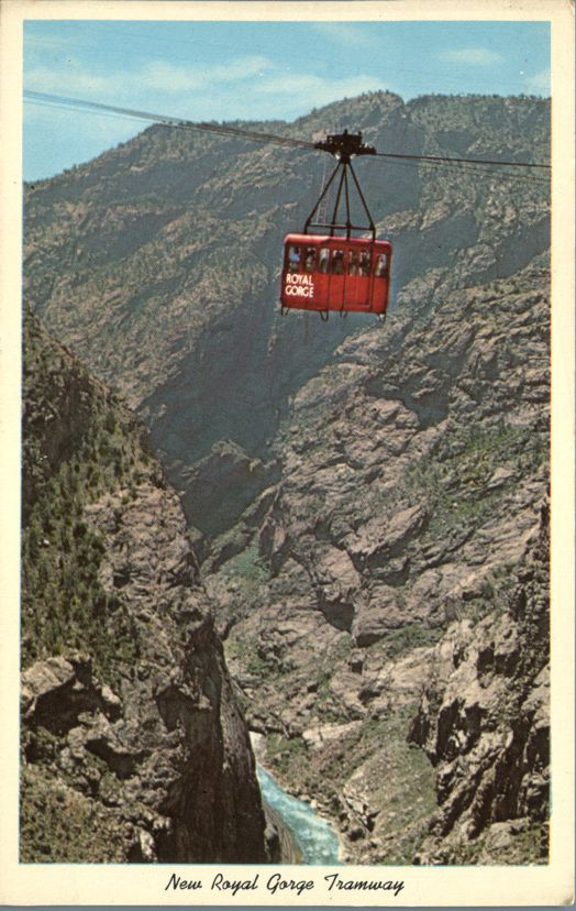 Aerial Tramway over the Royal Gorge, Colorado 1200 feet above the Arkansas River