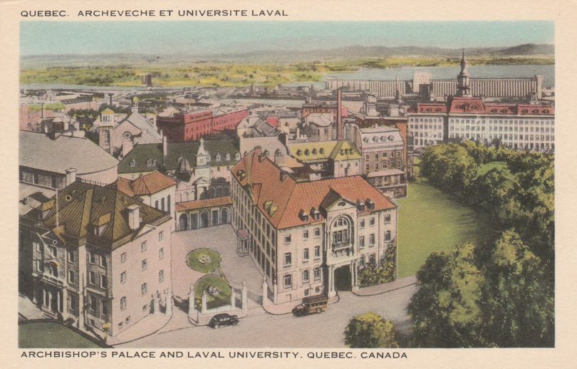 Archbishop's Palace and Laval University - Quebec, Quebec, Canada - White Border