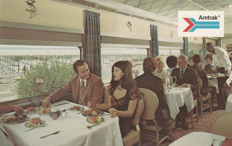 Amtrak Passenger Train Railroad - Deluxe Dining Car