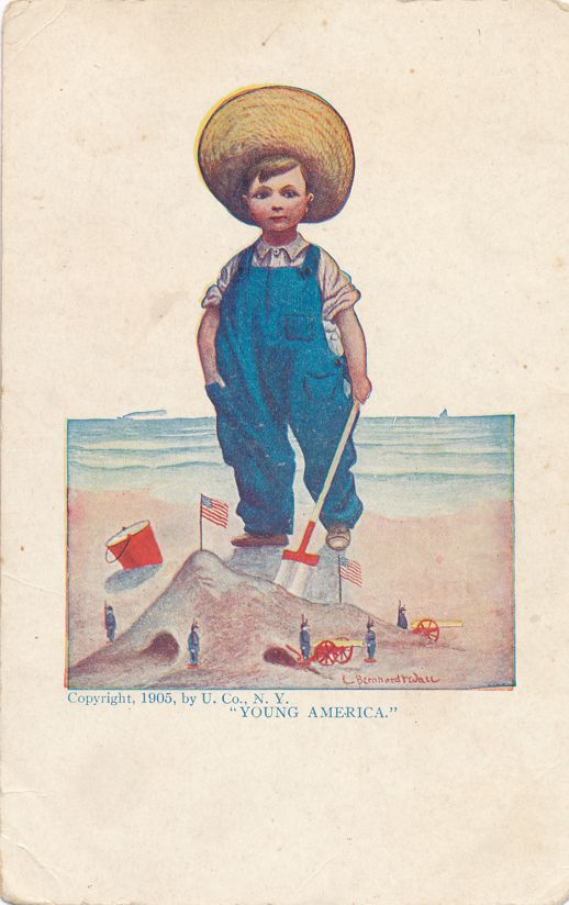 Young America a/s Bernhardt Wall copyright 1905 by Ullman Co. - Divided Back