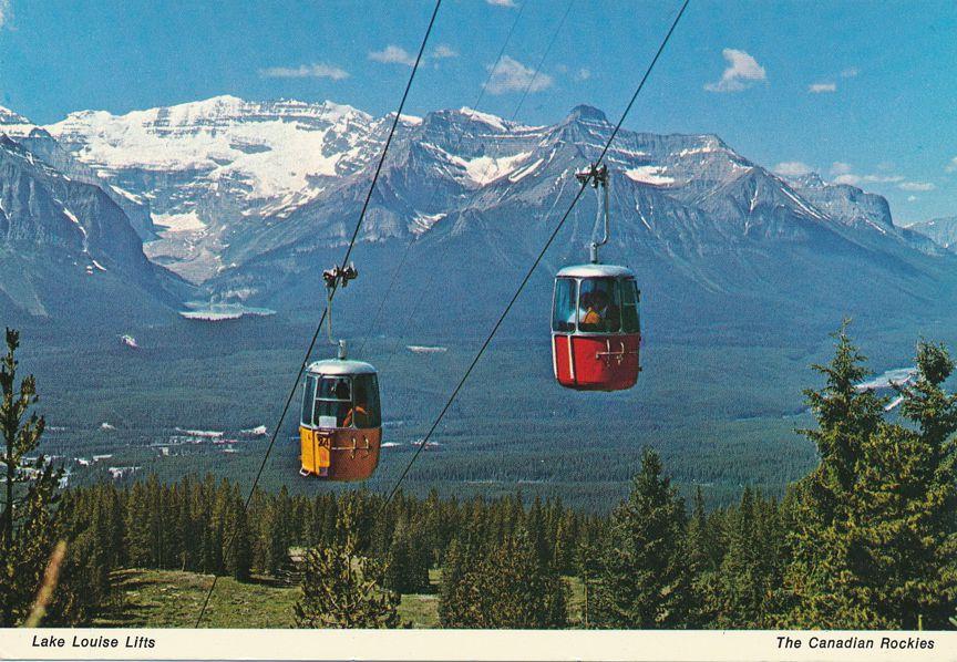 Lake Louise Aerial Lifts - Canadian Rockies, Alberta, Canada