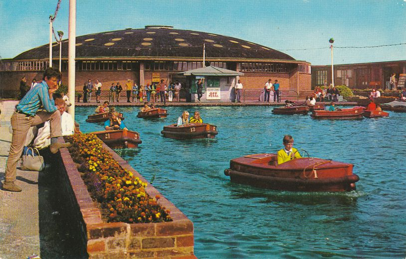 Boating Pool at Folkestone, Kent, England - Roadside