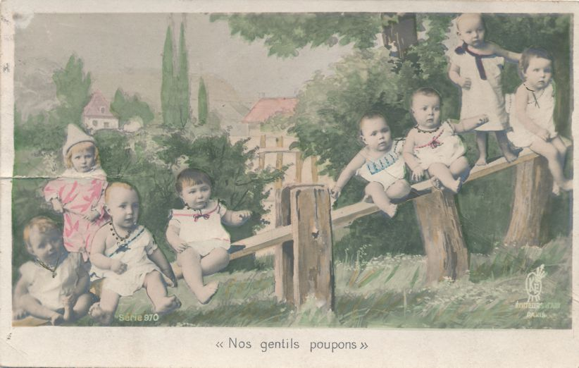 Multiple Babies Greetings - Nos gentils poupons - Our Nice Babies - Undivided Back