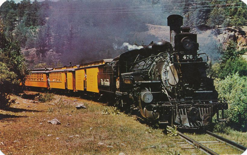 Engine 476 on Last Narrow Gauge Train - Durango to Silverton, Colorado
