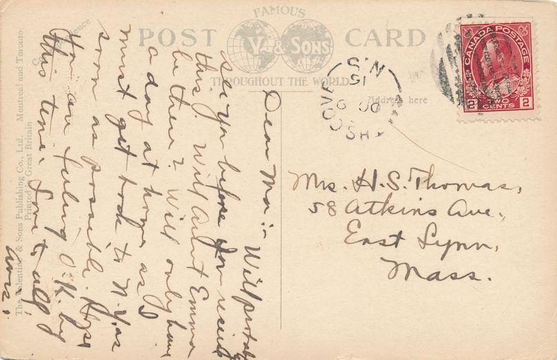 Bore of Petitcodiac River - Moncton, New Brunswick, Canada - pm 1915 - Divided Back