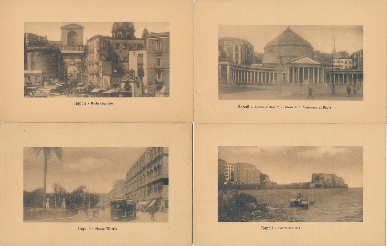 (6 cards) Views at Napoli - Naples, Italy - Divided Back