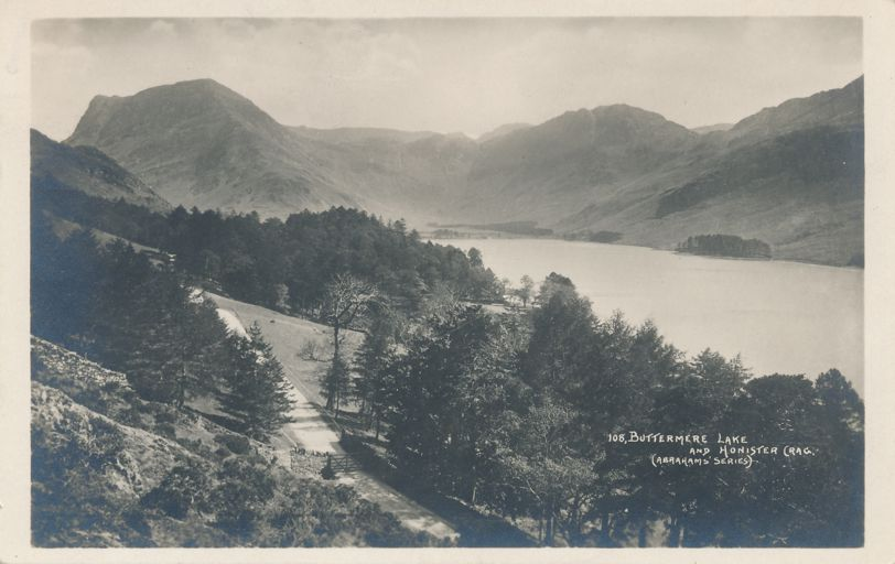RPPC Buttermere Lake and Honister Crag - Lake District, United Kingdom - England - Real Photo