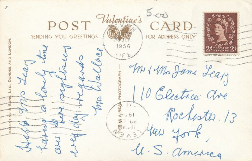 RPPC Good Luck Kittens from Leven - Fife, Scotland, United Kingdom - pm 1956 - Real Photo