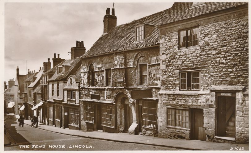 RPPC The Jew's House - Lincoln, Lincolnshire, England, United Kingdom - Real Photo