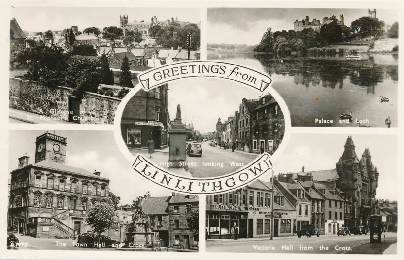 RPPC Greetings from Linlithgow, West Lothian, Scotland, United Kingdom - Real Photo