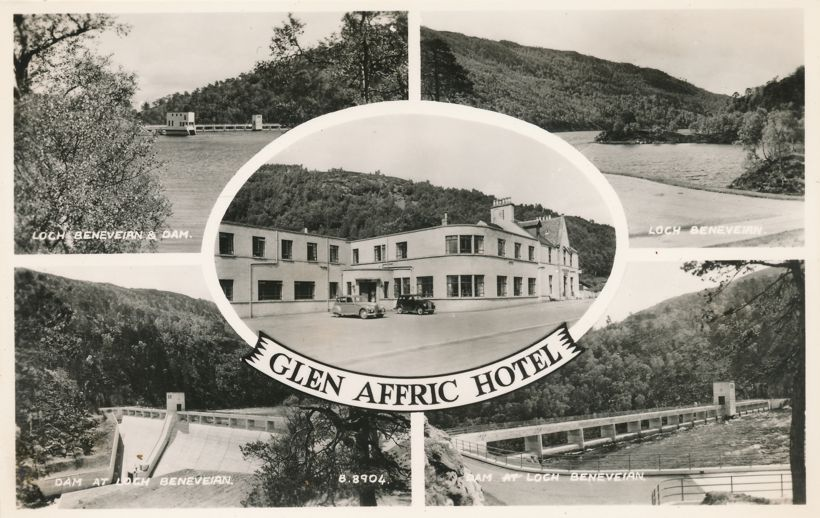 RPPC Glen Affric Hotel and Loch Beneveian - Scotland, United Kingdom - Real Photo