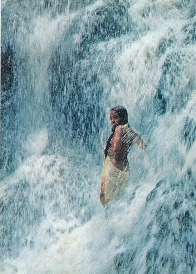 Young Lady Showering - Under a Waterfall - Metalanim, Ponape, Micronesia
