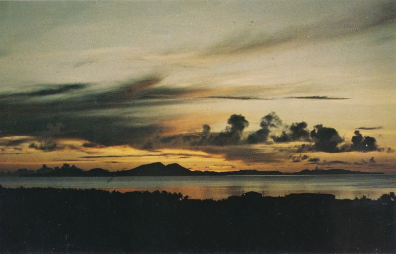 Sunset over Truk Lagoon - Chuuk, Micronesia