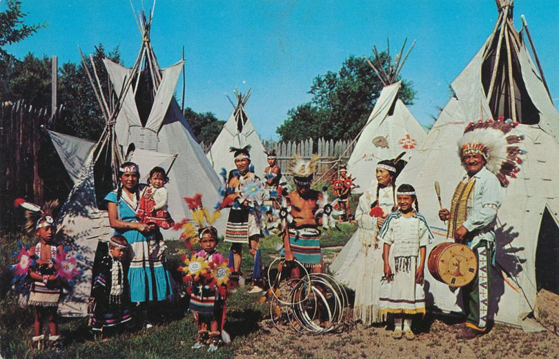 Indian Village in Full Dress - Western USA