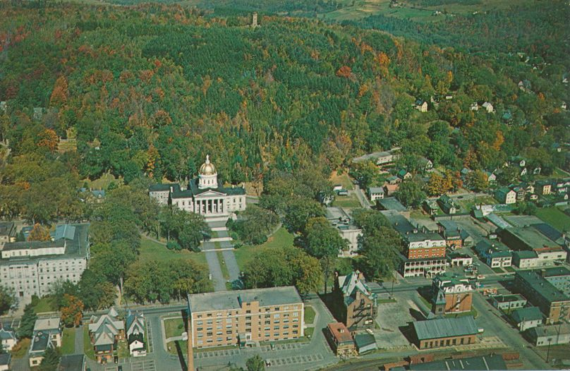 Aerial View of State Capitol at Montpelier, Vermont