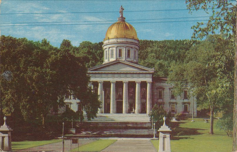 State Capitol built from Vermont Marble - Montpelier, Vermont - pm 1955 at Hartford CT