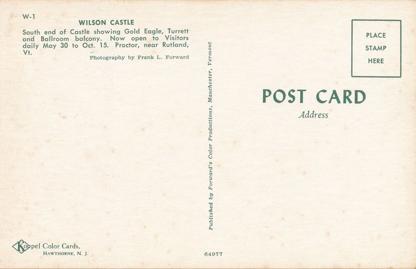Wilson Castle Golden Eagle and Turrett - Proctor near Rutland, Vermont