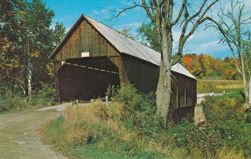 Covered Bridge between Bridgewater and Woodstock, Vermont