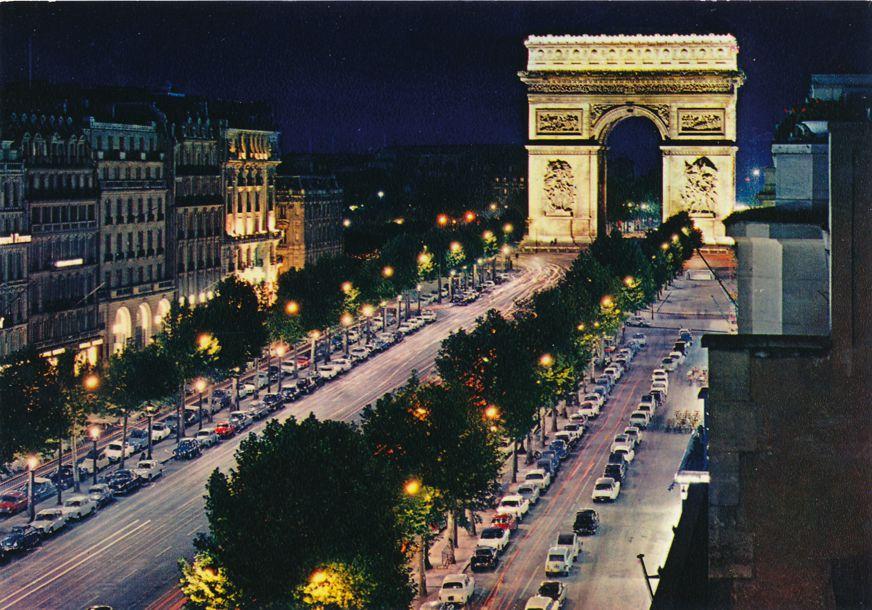 Paris, France - Avenue of Champs-Elysees and Arc de Triumphe