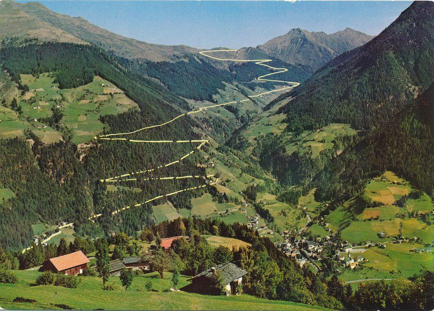 Mountain Village of S Leonardo in Passiria - Road to Passo Giovo, South Tyrol, Italy