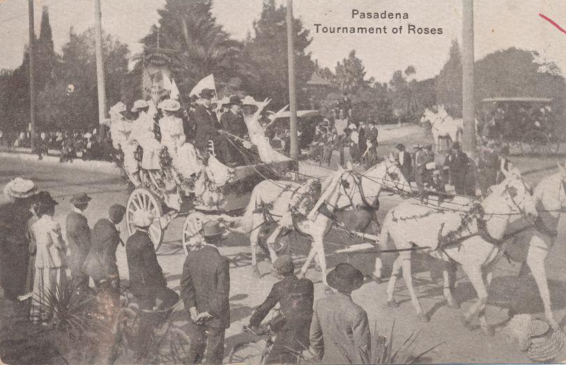 Tournament of Roses - Pasadena, California - NY Entry Four-in-hand Tallyho - Divided Back