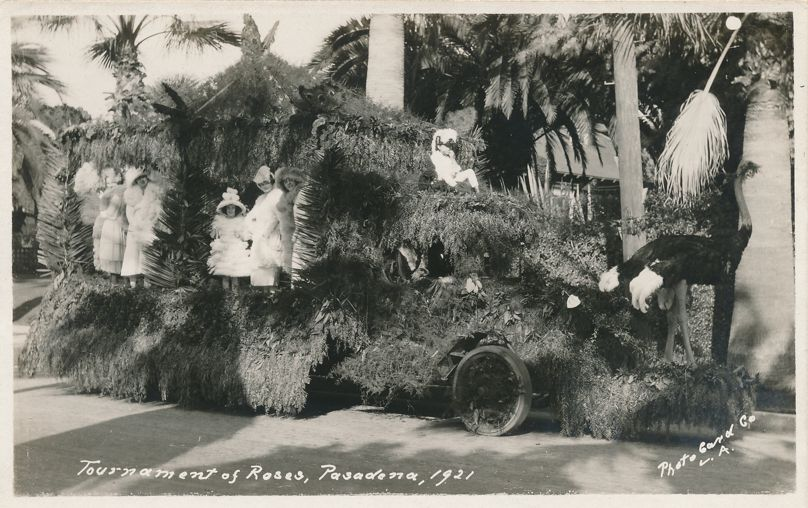 RPPC Tournament of Roses Parade 1921 - Pasadena, California - Real Photo