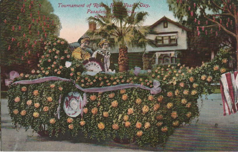 Tournament of Roses Parade - New Year's Day Floral Float - Pasadena, California - Divided Back