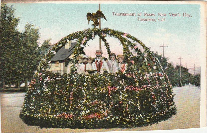 Tournament of Roses Parade - Floral Float on New Year's Day - Pasadena, California - Divided Back