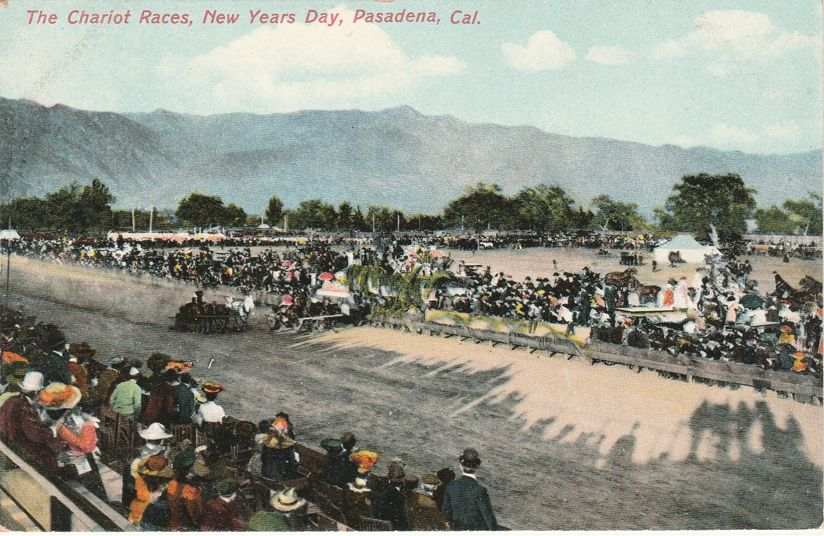Chariot Races on New Year's Day - Pasadena, California - Divided Back