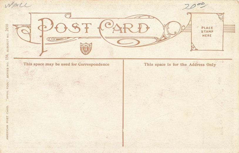 April Fools Day Greetings -Nobody Can Fool Me - a/s Bernhardt Wall - Divided Back