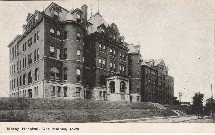 Mercy Hospital at Des Moines, Iowa - Divided Back