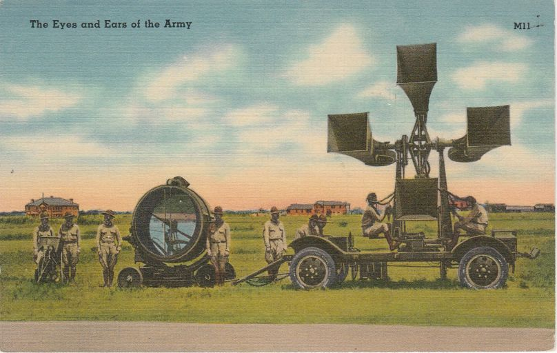 Eyes and Ears of the Army - World War II - pm 1942 at Mount Vernon VA - Linen Card