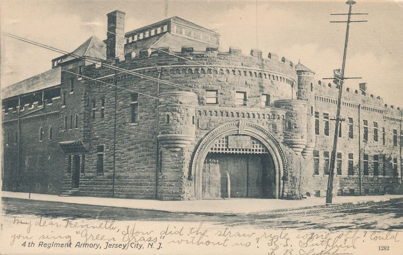 Fourth Regiment Armory - Jersey City, New Jersey - pm 1907 - Undivided Back